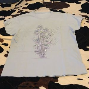 Tops - Flower, Dragonfly, with sequence Blouse